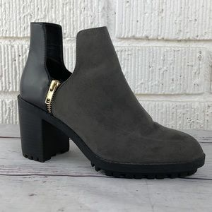 ZARA chunky sole cut out pull on ankle boot 39/8